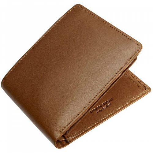 Leather Wallet - 9 Cards & Coin Pockets - Tan